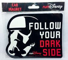 runDisney DISNEYLAND STAR WARS MARATHON FOLLOW YOUR DARK SIDE CAR MAGNET