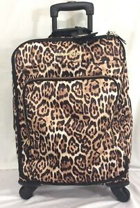 Victorias Secret Supermodel LEOPARD Wheelie Luggage  Bag NWT