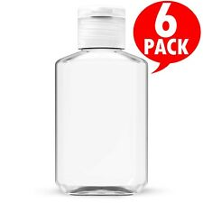 2 oz (60 ml) Empty Clear PET Plastic Bottles W/ Flip Top Caps - 6 to 500 packs