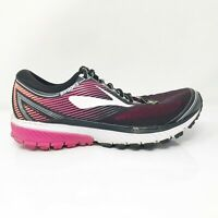 Brooks Womens Ghost 10 1202461B067 Black Purple Running Shoes Lace Up Size 8 B