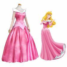Sleeping Beauty Aurora Gown Princess Cosplay Costume Adult Womens Fancy Dress