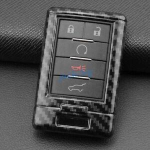 Carbon Fiber Car Key Fob Cover Case Shell For Cadillac DTS CTS SRX ATS Corvette