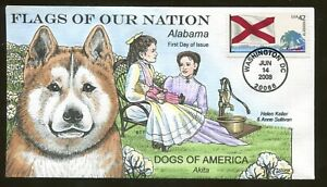 2008 Washington DC - Flags of Our Nation - Alabama - Collins FDC