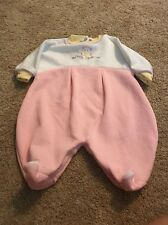 Sweet Treasures And Fit Girls White Pink Teddy Bear Sleeper 3–6 Months