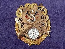 Antique 1901 SCHUTZEN MEDAL - 10K Gold