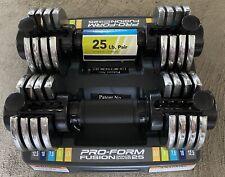New ProForm Fusion 2 12.5lb Adjustable Dumbbells Select-A-Weight (25lbs Total)
