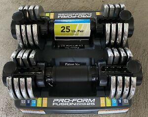 PROFORM Fusion Adjustable 25 lb Dumbbell FREE SHIPPING IN HAND