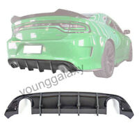 Fit 15-19 Dodge Charger SRT Carbon fiber Style Rear Lip Bumper Valance Diffuser