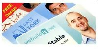 Custom Printed ID Cards on White Plastic PVC - Credit Card Size - FREE Design