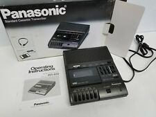 Panasonic Standard Cassette Tape Transcriber RR-830 with Foot Pedal in Box