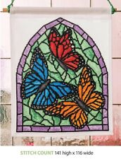STAINED GLASS WINDOW -  CROSS STITCH  PATTERN ONLY    ASL-EPW