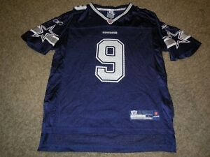 TONY ROMO #9 NFL Dallas Cowboys Reebok Youth Blue Jersey L 14-16 Large NEW NWT