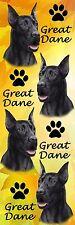 E&S Pets 3-D Black Great Dane Bookmark Bm-51b