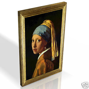 Girl With A Pearl Earring Vermeer * Top Quality Box Canvas Ready to Hang * A2 A3