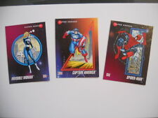 Marvel Universe series 1 rare 3 promo cards set 1992