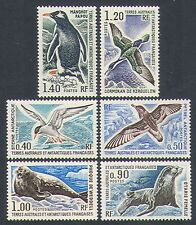 FSAT/TAAF 1976 Birds/Penguin/Animals/Seals/Nature/Wildlife 6v set (n32643)