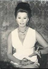 SOPHIA LOREN sexy smoking cigarette Vintage Press Photo moviestar 13*18cm