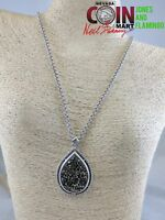 "BRIGHTON SIGNED COSTUME FASHION JEWELRY 18"" NECKLACE AND PENDANT #16916"