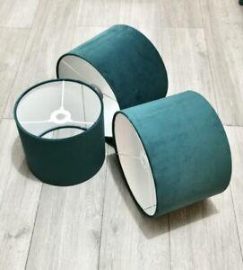 New High quality luxury velvet lamp shade pendant light shade-teal