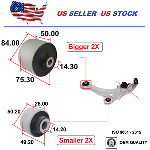 4x Front Control Arm Bushing For NISSAN Pathfinder 2013-2019 OE Quality