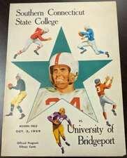 1959 Official College FB Program Southern Conneticut vs Bridgeport EX 51235