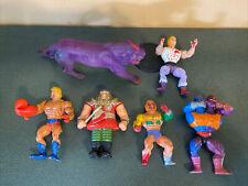 Lot Of 6 Vintage He-Man Action Figures Panthor Ram Man Two Bad...