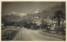 1929 Real Photo Postcard, Merano Italy Casino di Cura, Unposted