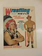 VINTAGE WRESTLING REVUE MAGAZINE MAY 1972 WWF WWE CHIEF JAY STRONGBOW BILL WATTS