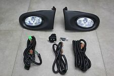 02-04 Acura RSX DC5 JDM Clear Fog Light Kit + Harness + Switch Complete Type S