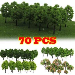 40/70X Modellbäumen Bäume Modell Gemischte Maßstab Garten Park Belegung Layout