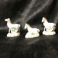 Lot of 3 Vintage Porcelain Horse Figurines