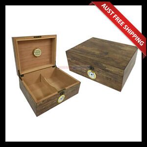 Albion Cigar Humidor, 50+ Cigar Box, Humidifier & Hygrometer, Aussie Station