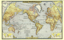 Poster 42x26cm Mapa Mundial Mundi Mundo World Map