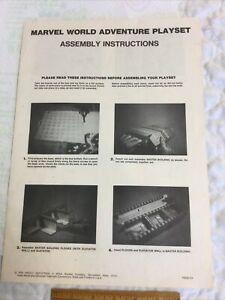 Vintage 1976 Marvel World Adventure Playset Instructions Milton Bradley Amsco