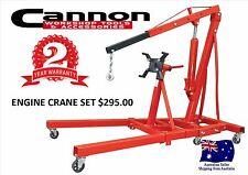 Engine Crane Hoist Set Workshop Hoist  NEW 1000kg with Engine Stand H/Duty