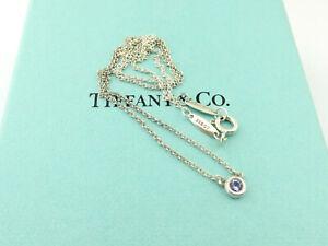 TIFFANY & CO Silver Tanzanite Color by the Yard Pendant Necklace