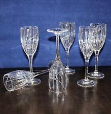 New listing Set Of 5 Mikasa Uptown Swirl Crystal White Wine Glasses Retired Pattern