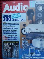Audio 6/00, b&m BM 30, BM 18, Spectral DCM 30, DMA, 100s, Trans rotore pianta SL 80