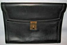 VINTAGE GUCCI black Leather - Letter Size Portfolio - Great I Pad case!! - EUC