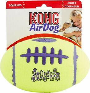 KONG AirDog SQUEAKER Football - (1) LARGE Dog Toy Durable & Fun Erratic Bounce