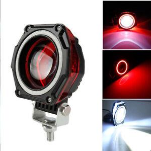 "3"" INCH LED Work Light Spot Lamp Fog Red Halo Off Road Car Motorcycle ATV"
