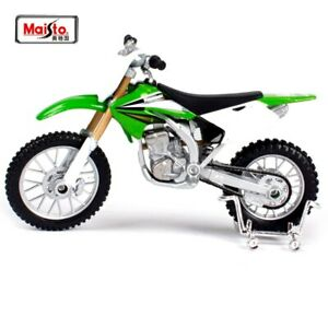 Green Kawasaki KX 250F 1:18 Dirt Bike Motocross Motorcycle Kids Diecast Toy Bike