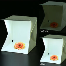 Portable Mini Photo Studio Box Photography Backdrop built-in Light Photo Box