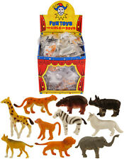 Plastic Zoo Figure Jungle Wild Animals Dino Farm Kids lot Toy Party Bag Figures
