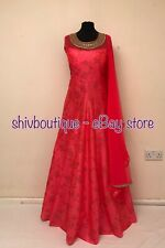 Indian Pakistani Floor Length Party Cocktail Dress Gown Anarkali