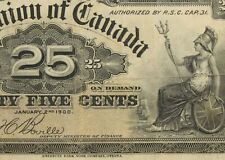 Canada Series 1900 25 Cents KM#9B Note 702F