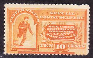 US Scott E3 old 10c Special Delivery stamp M/H/OG CV $300