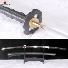 Full Tang Katana Clay Tempered T10 Steel Battle Sharp Japanese Sword Real Hamon