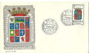 Spain 1965 First Day Cover - Shields Series - Palencia