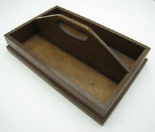 Old Wooden Cutlery Tray with Carry Handle